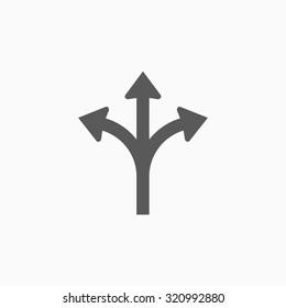 three way direction arrow icon