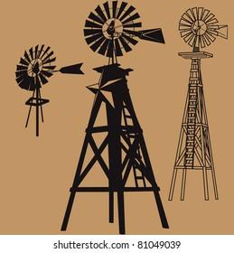 Three Windmills