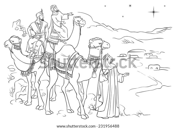 Mary and Joseph Travel to Bethlehem Coloring Page – 10 Minutes of ... | 440x600