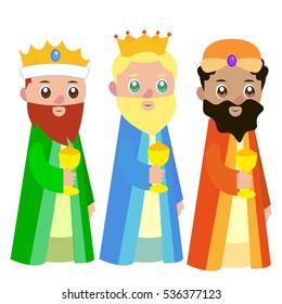 Three, Wise Men, vector.