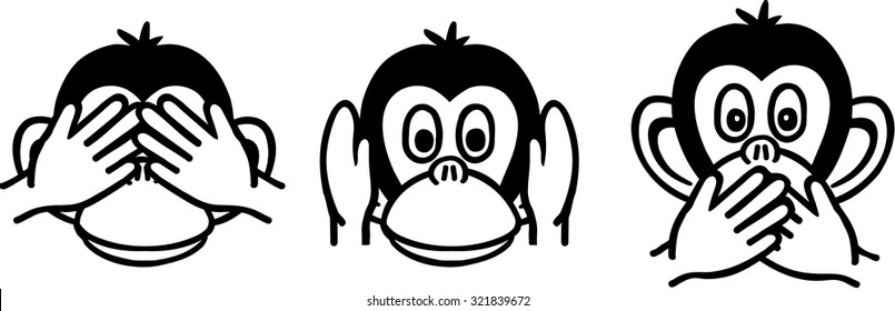 Three Wise Monkeys Images, Stock Photos & Vectors | Shutterstock