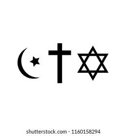 three world religions symbols