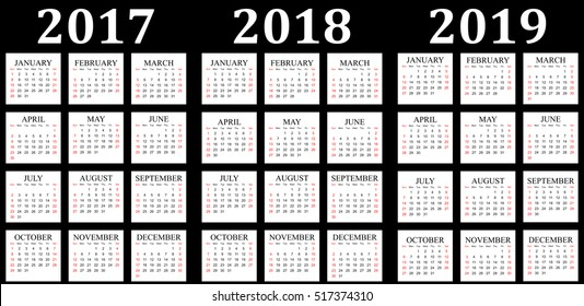 three year calendar