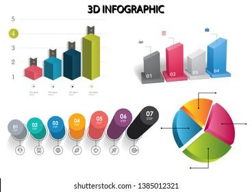 three-dimensional column circle graphics / 3d cylinder graphics