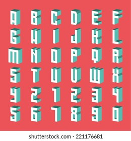 Three-Dimensional vector Alphabet