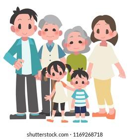 three-generational households illustration