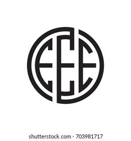 three-letter initials black circle logo