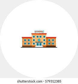 Three-storied School Building Icon