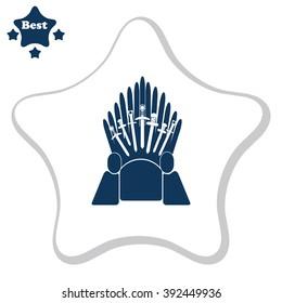 Throne vector icon. Kingdom symbol.