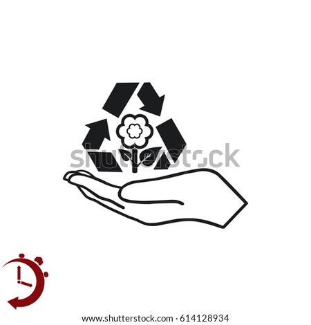 Throw Away Trash Icon Recycle Icon Stock Vector (Royalty