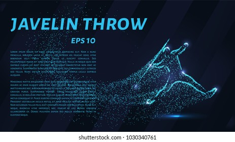 Throwing spears out of particles. Javelin throwing consists of dots and circles