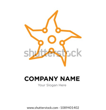 throwing star company logo design template stock vector royalty