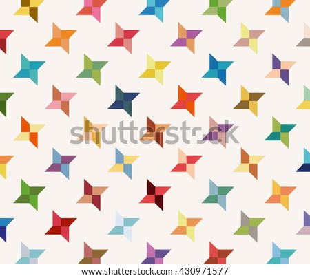 Throwing Star Origami Pattern Stock Vector Royalty Free 430971577