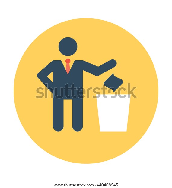 Throwing Trash Vector Icon