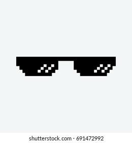 thug life glasses icon vector