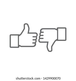 Thumb up and Thumb down icon