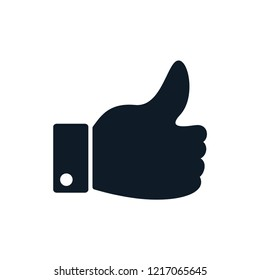 Thumb up and thumb down icon vector logo template