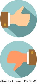 Thumb up and down icons vector