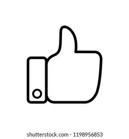 thumb up - feedback icon vector