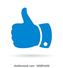 Thumb up finger sign vector illustration isolated on white background
