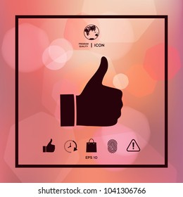 Thumb up gesture - icon