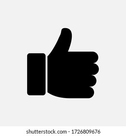 thumb up gesture icon designed in solid style
