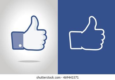 Thumb up hand symbol.