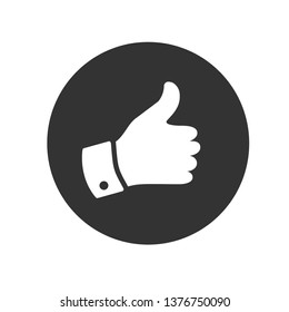 Thumb Icon. Illustration of Agree, Like or Okay As A Simple Vector Sign & Trendy Symbol for Design and Websites, Presentation or Mobile Application.