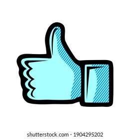 Thumb up icon isolated on white background. Thumb up icon in trendy design style for web site and mobile app. Thumb up vector icon modern and simple symbol. Thumb up icon vector illustration, EPS10.