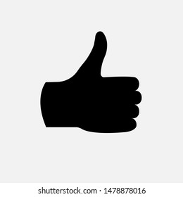 Thumb Icon. Like, Good or Up Illustration As A Simple Vector Sign & Trendy Symbol for Design,  Websites, Presentation or Mobile Application.