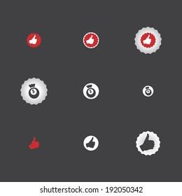 thumb up icon, money, vector