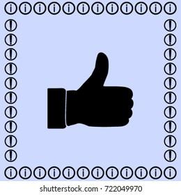 Thumb up icon, okay vector illustration