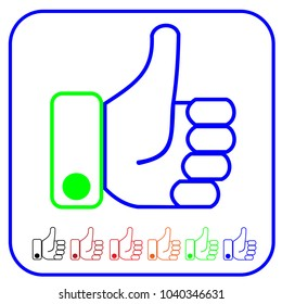 thumb up icon vector. flat design thin line