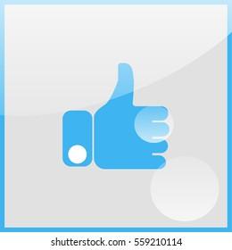 Thumb up illustration.