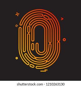 Thumb impression icon design vector