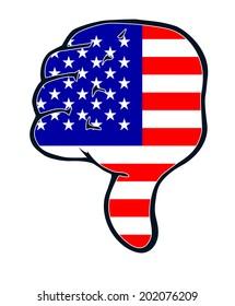 thumb judgment down negative USA America