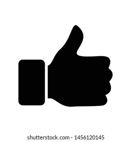 thumb up like icon vector