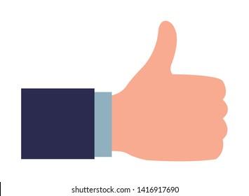 cartoon thumb images stock photos vectors shutterstock https www shutterstock com image vector thumb suit sleeve icon cartoon isolated 1416917690
