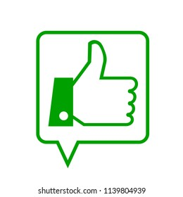 Thumb up, i like it, Yes sign – stock vector