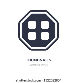 thumbnails icon on white background. Simple element illustration from Content concept. thumbnails sign icon symbol design.