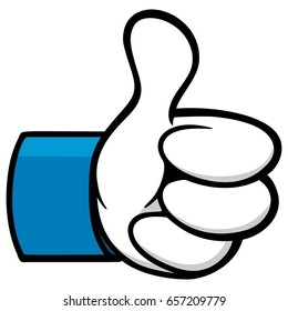 Thumbs Up Cartoon Social Network Icon