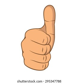 Thumbs up concept vector