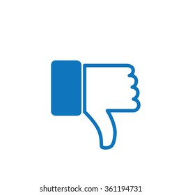 thumbs down or dislike hand vector icon for social media websites and mobile apps