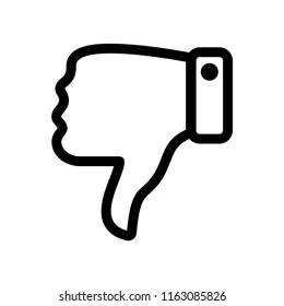 Thumbs down dislike, hate or thumbs down dislike for social networks