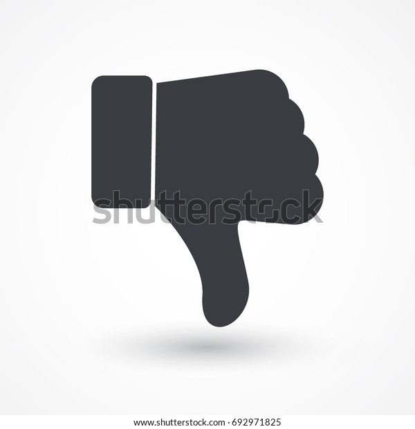 Thumbs down dislike, hate or thumbs down dislike for social networks, art icon for apps and websites. Bad choice sign. Voting. Disapproval isolated vector icon