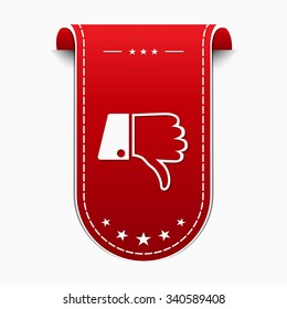 Thumbs Down Red Vector Icon Design