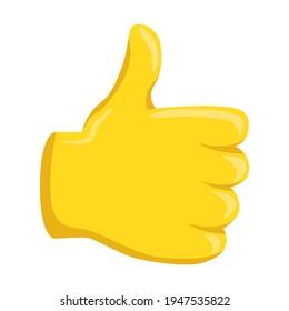 Thumbs Up Emoji Icon Illustration. Gesture Like Vector Symbol Emoticon Design Doodle Vector.