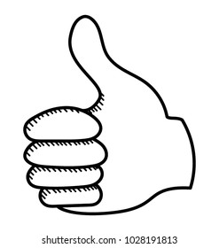 Thumbs up icon design symbol of approval