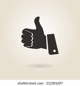 thumbs up icon on a light background