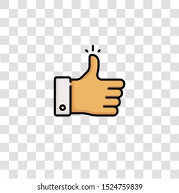 thumbs up icon sign and symbol. thumbs up color icon for website design and mobile app development. Simple Element from ethics collection for mobile concept and web apps icon.